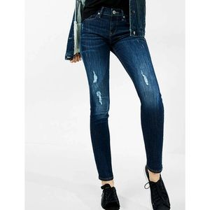 NEW! Express Super Skinny Mid Rise Jeans